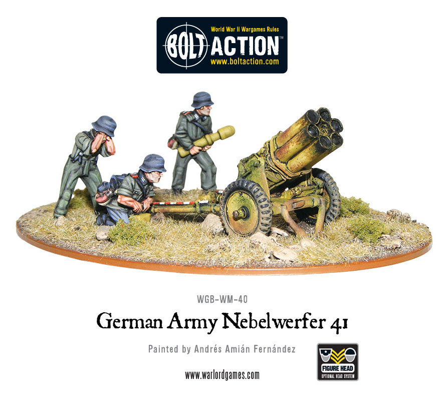 The Bolt Action Nebelwerfer is a great and inexpensive alternative to the Forgeworld Quad Lancher