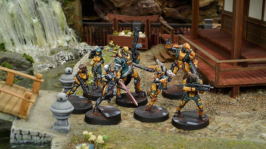 Muestra del Ejército de Yu Jing, Infinity Juego de miniaturas