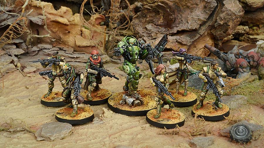 Muestra del Ejército de Haqqislam, Infinity Juego de miniaturas