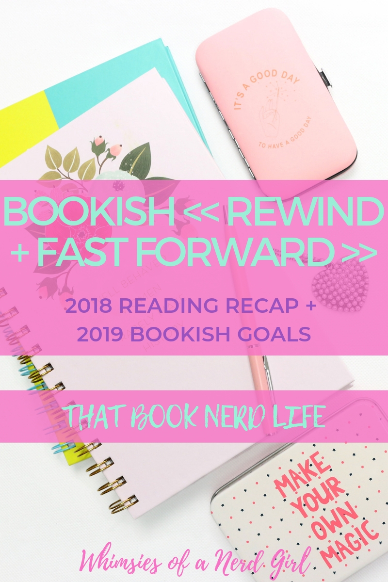 Read about what I've learned about my reading habits and what I intend to do to improve them. Also take a list of my 20 bookish goals I plan to obliterate in the new year! via Whimsies of a Nerd Girl / WhimsiesofaNerdGirl.com | #readinggoals #bookishgoals #booknerdgoals #goodreadsgoals #readingrecap #bookgoals #readharder #readingtips #amreading