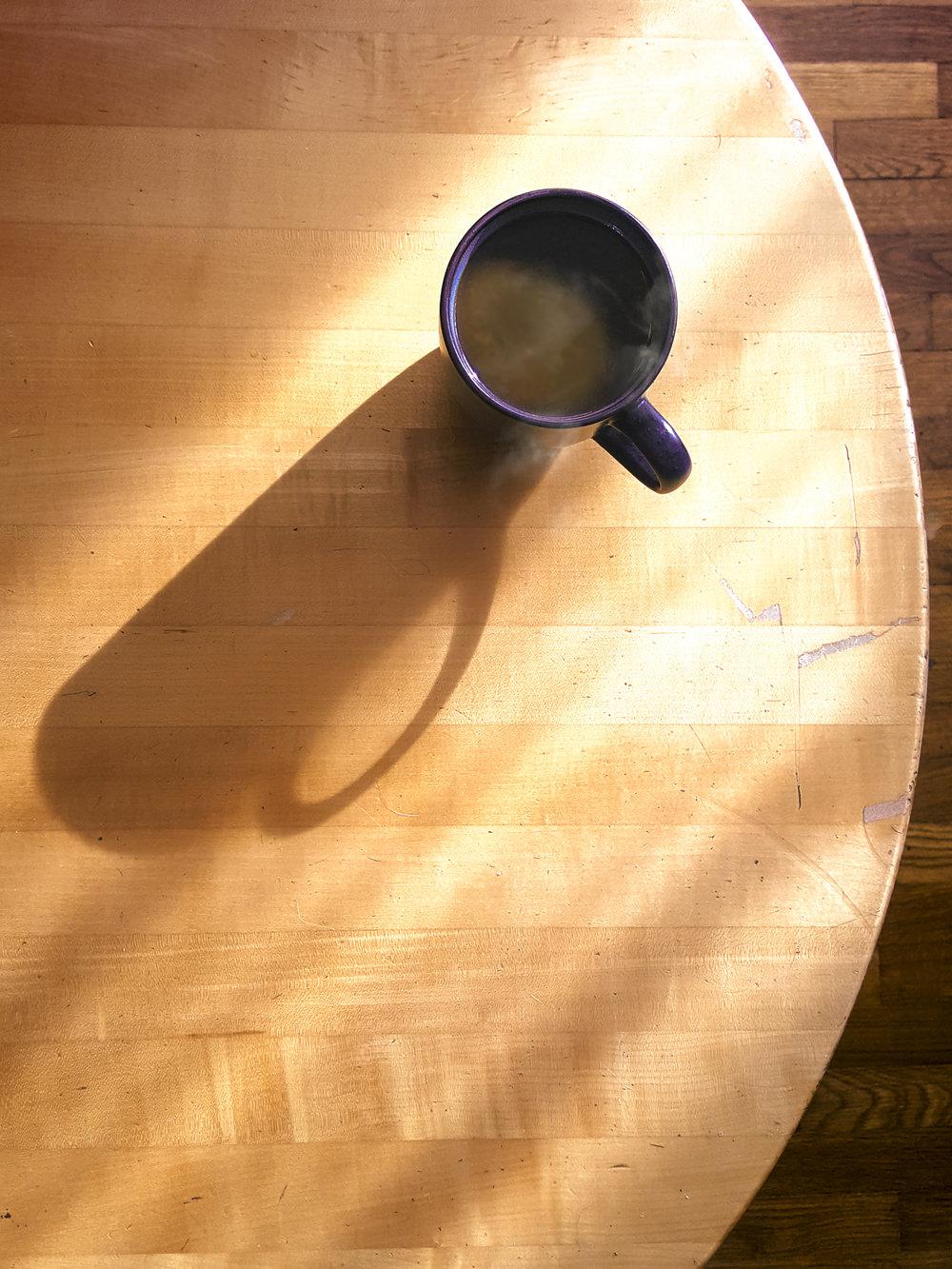 Coffee in Streaming Window Light