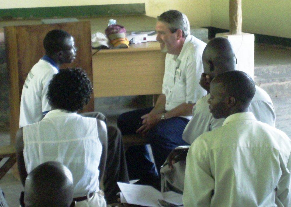 Tim Coaching Pastor Max in Uganda
