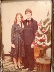 Tim  and  Shirley 1st Christmas