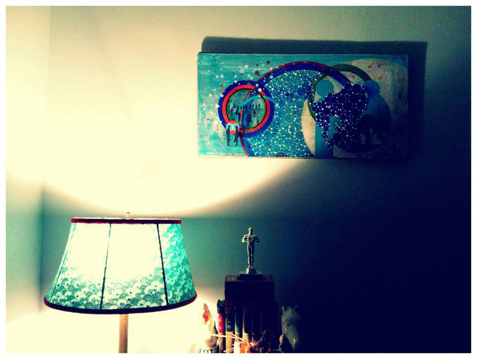 Arrivals living back east with a lampshade that was made in the PNW.