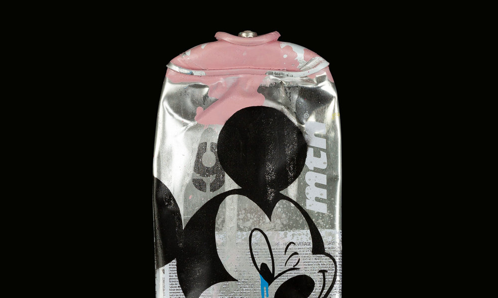 Mickey-Montana-94-Supernova-Pink-Acrylic-Spray-paint-on-crushed-spray-can-zoom-detail-01.jpg