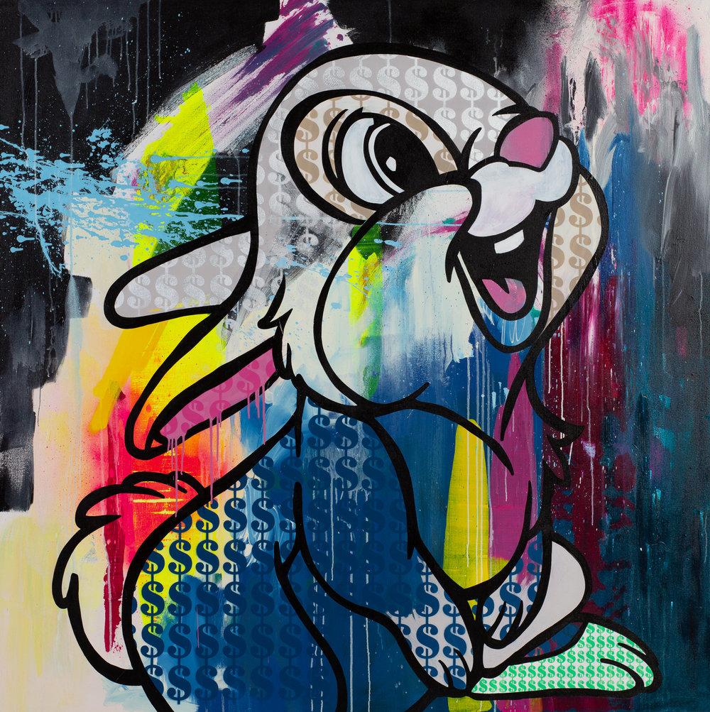 Money-Rabbit-(Thumper)_Acrylic_Spray_paint_emulsion_varnish_on_canvas_150cm-x-150cm-x4.5cm-£4250_EDITED.jpg