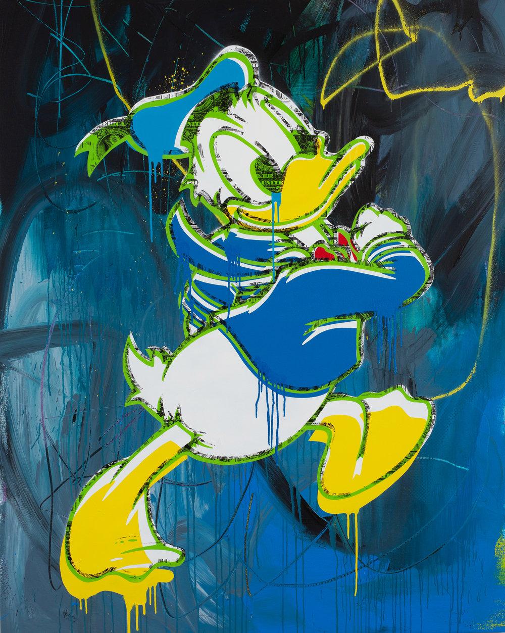 Popaganda-Duck-Acrylic_Spray_paint_screenprint_emulsion_varnish_on_canvas_150cm-x-120cm-x4.5cm-£3750.jpg