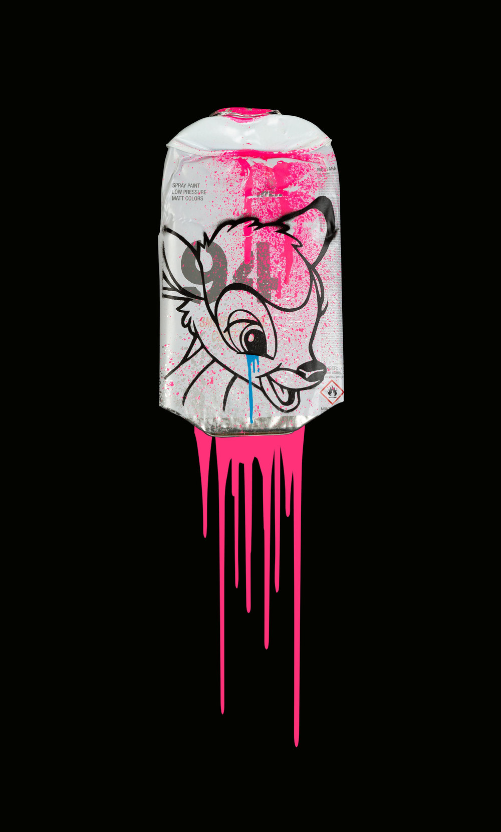 Bambi-Montana-94-Neon-Pink-Acrylic-Spray-paint-on-crushed-spray-can-in-museum-perspex-box-frame-27.5cm-x-45cm-x-5.5cm-£725.jpg