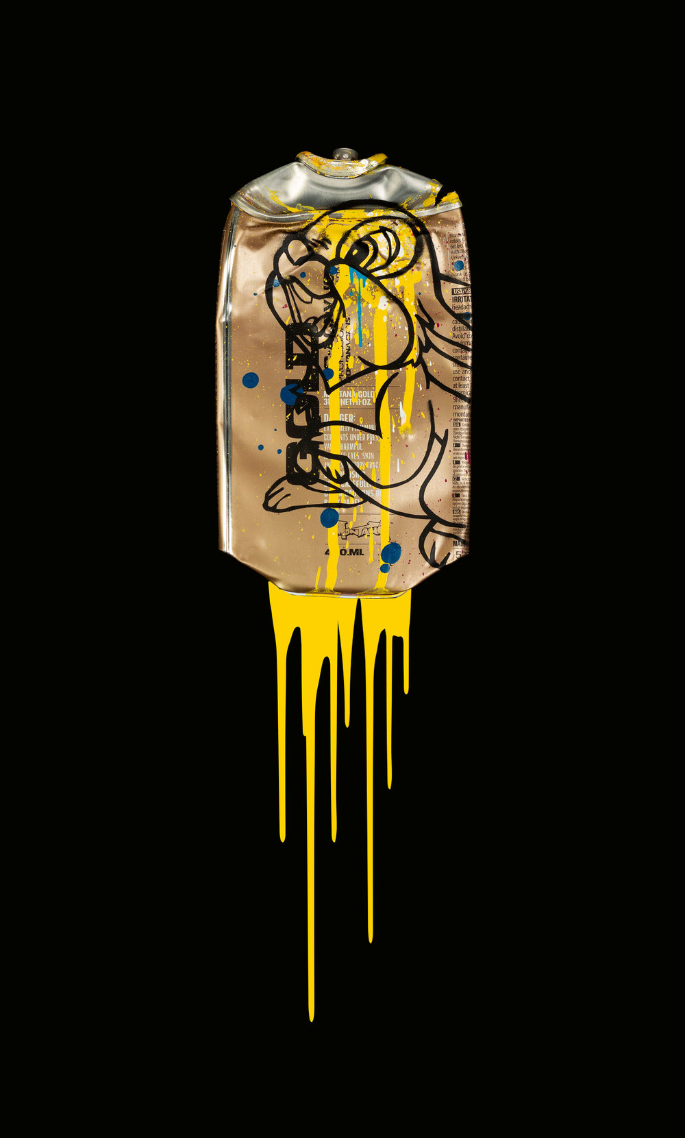 Thumper-Montana-Gold-Easter-Yellow-Acrylic-Spray-paint-on-crushed-spray-can-in-museum-perspex-box-frame-27.5cm-x-45cm-x-5.5cm-£725.jpg