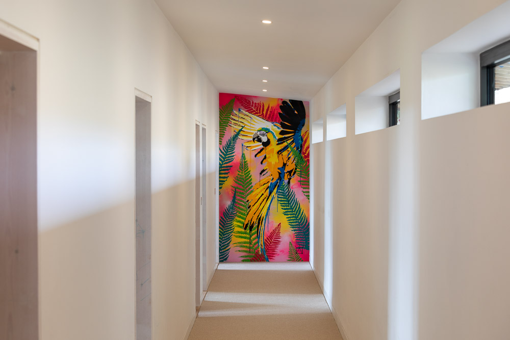 """Ben's work created the sanctuary we were looking for, literally bringing the outside into our home. We are really pleased that this piece of artwork is the first thing people see when entering the house"". - HARRY ANSCOMBE - Home Owner"
