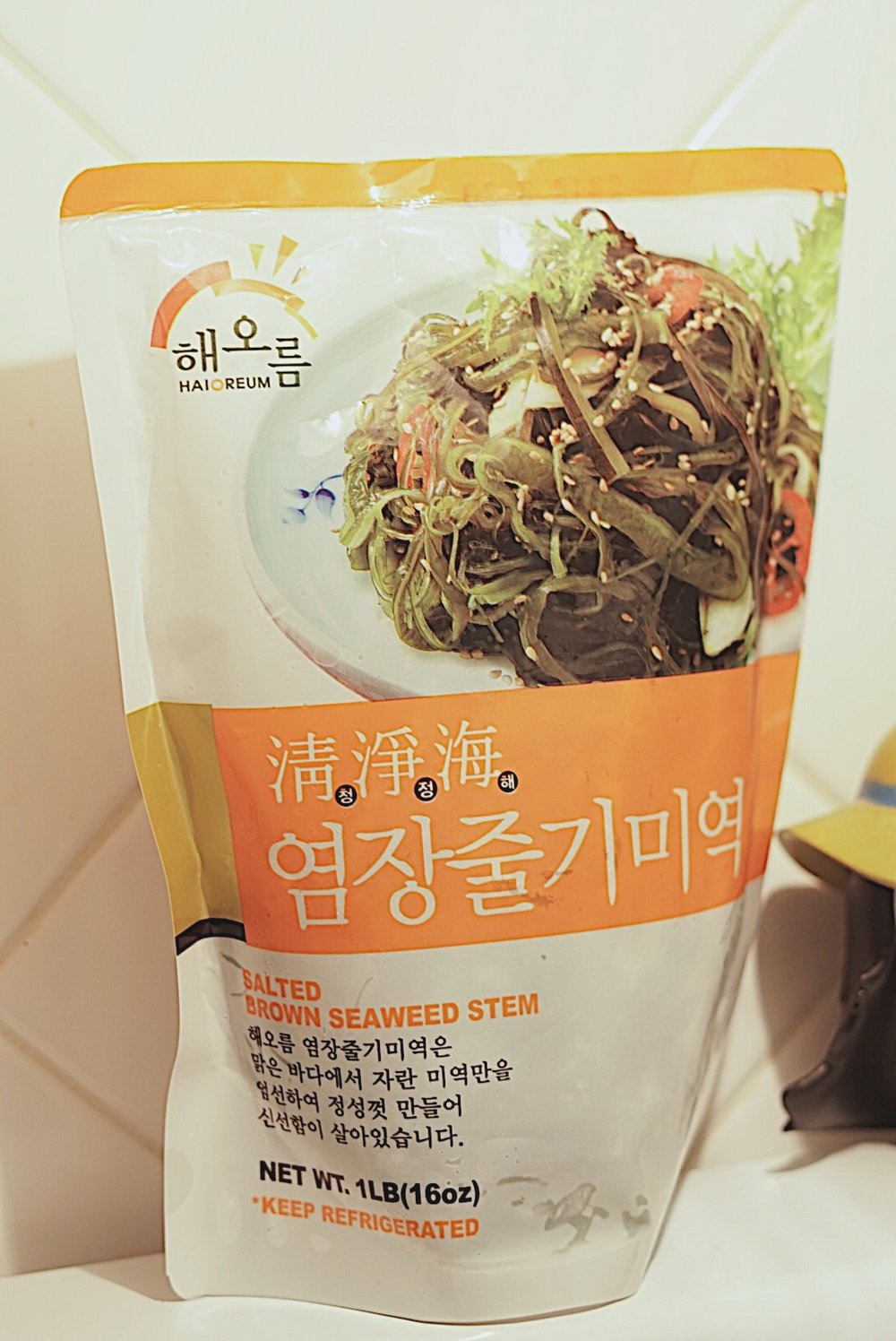 Seaweed stem s often come pre-packaged. - Find em at a local Korean market!