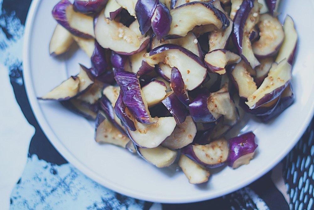 disgorged eggplants