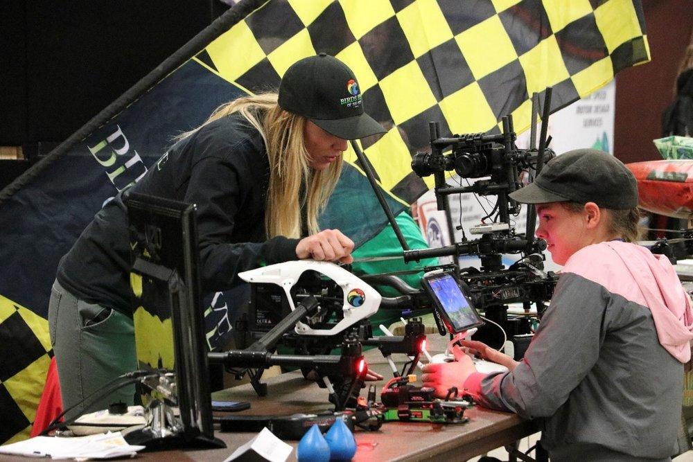 making montana woman and girl drones.jpg