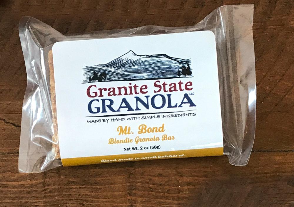 Mt. Bond Blondie Granola Bar