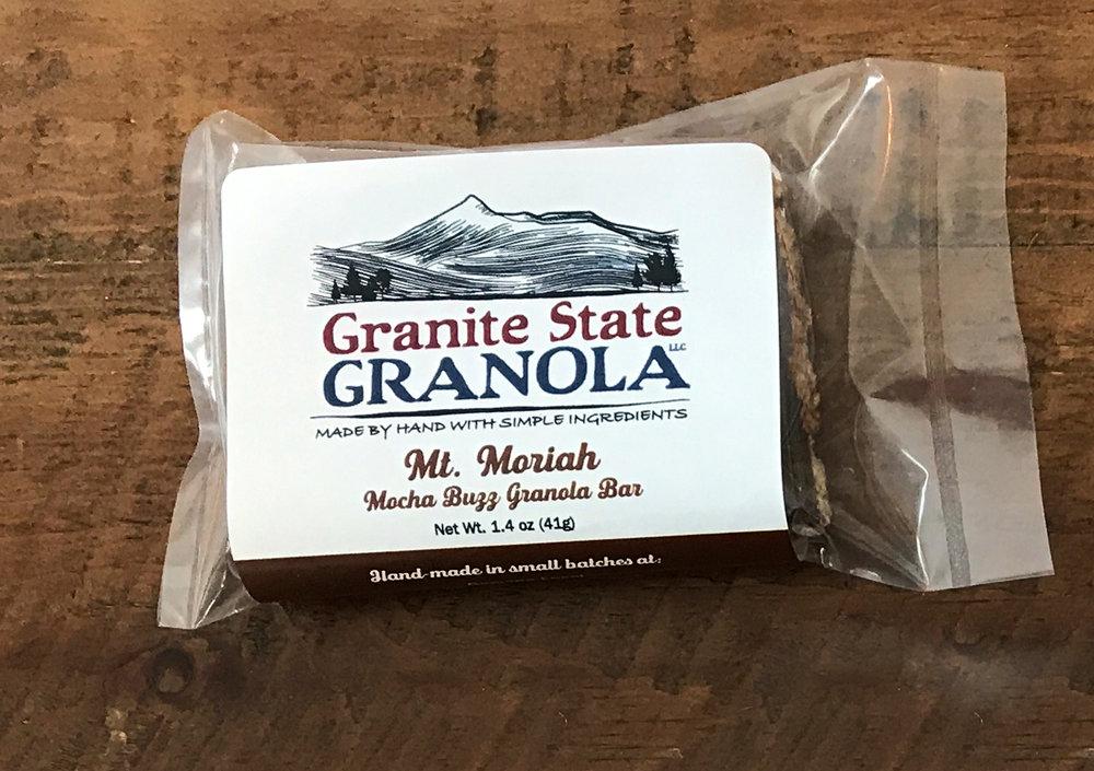 Mt. Moriah, Mocha Buzz Granola Bar
