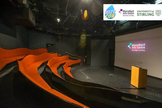 The Playhouse Studio located in the Macrobert will be used for Mizu Con for a mixture of presentations and screenings. (Capacity 80)