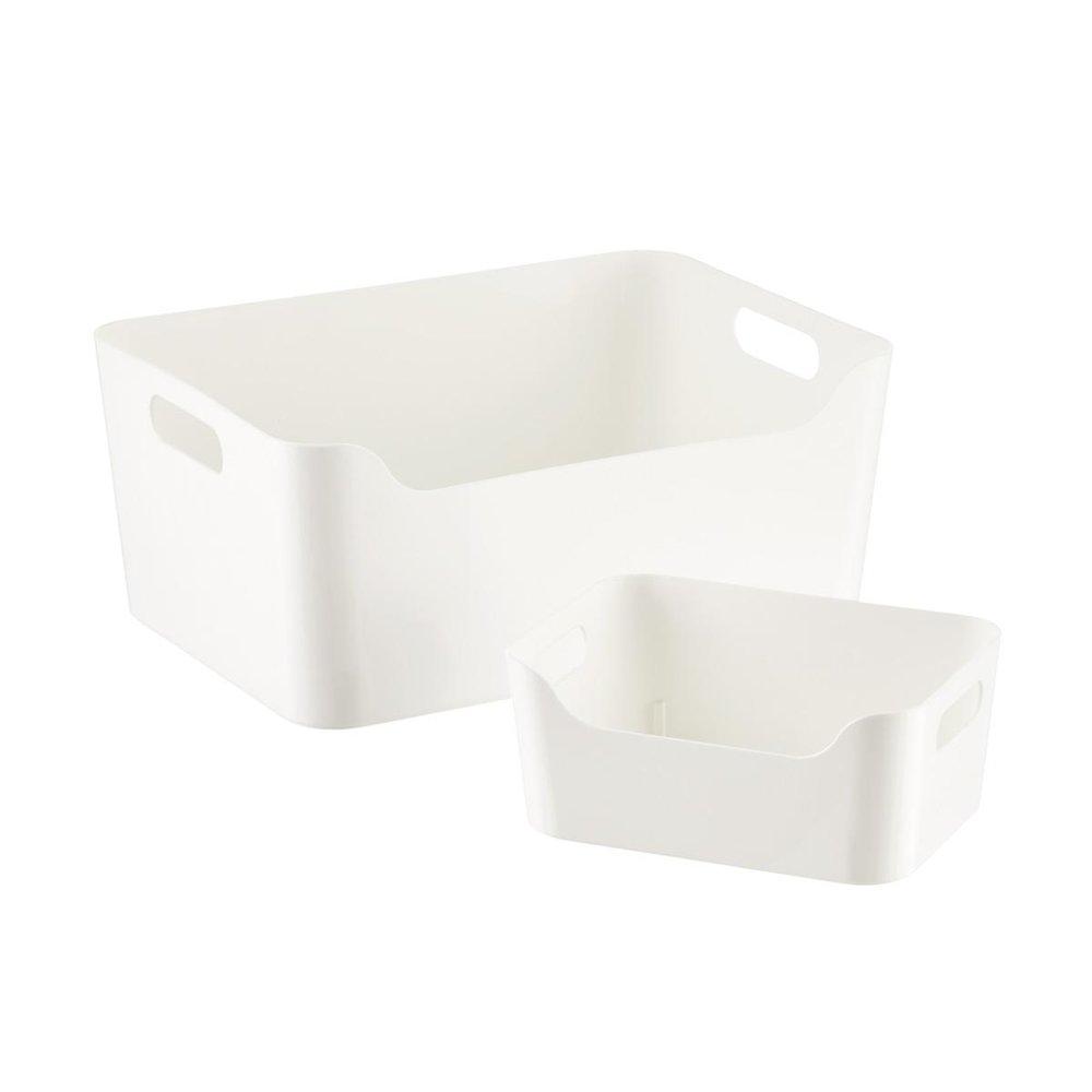 White Plastic Storage Bins