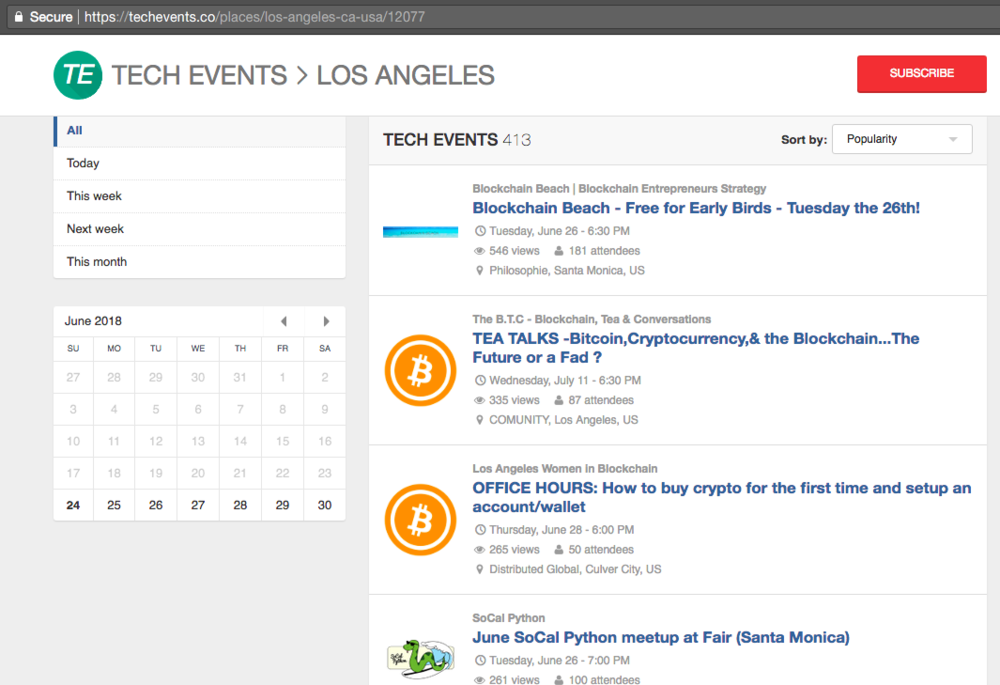 Tech Events LA