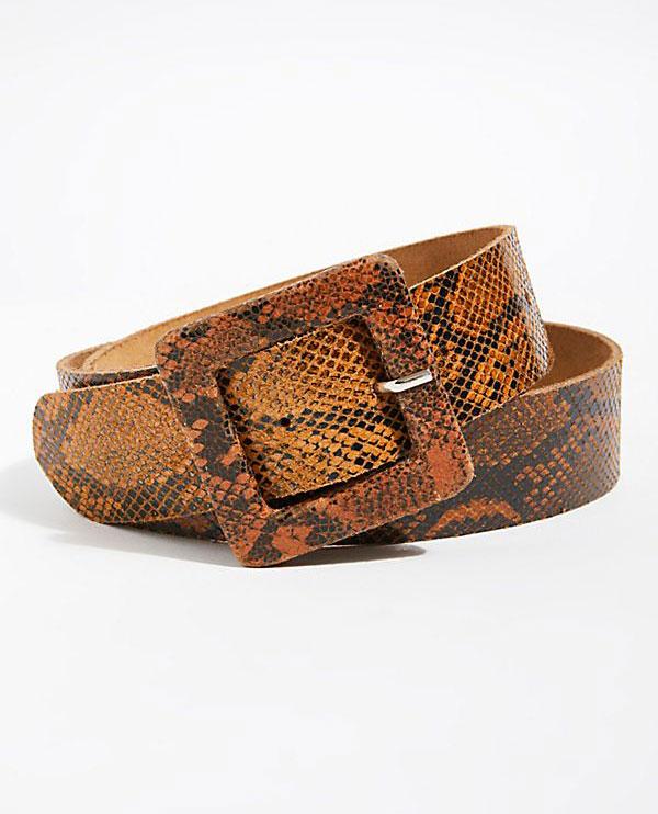 Free People Snakeskin Belt   $38