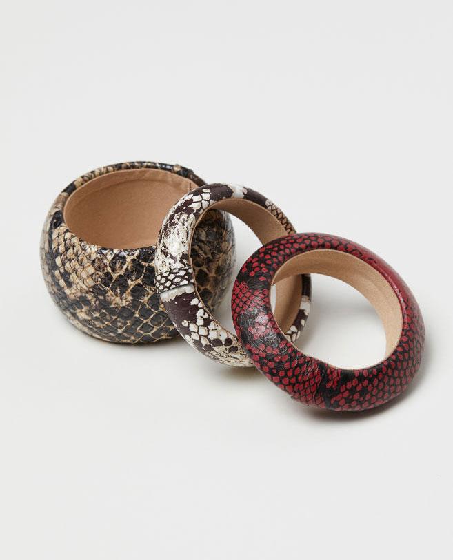 H&M Snakeskin Bracelets     $29.99