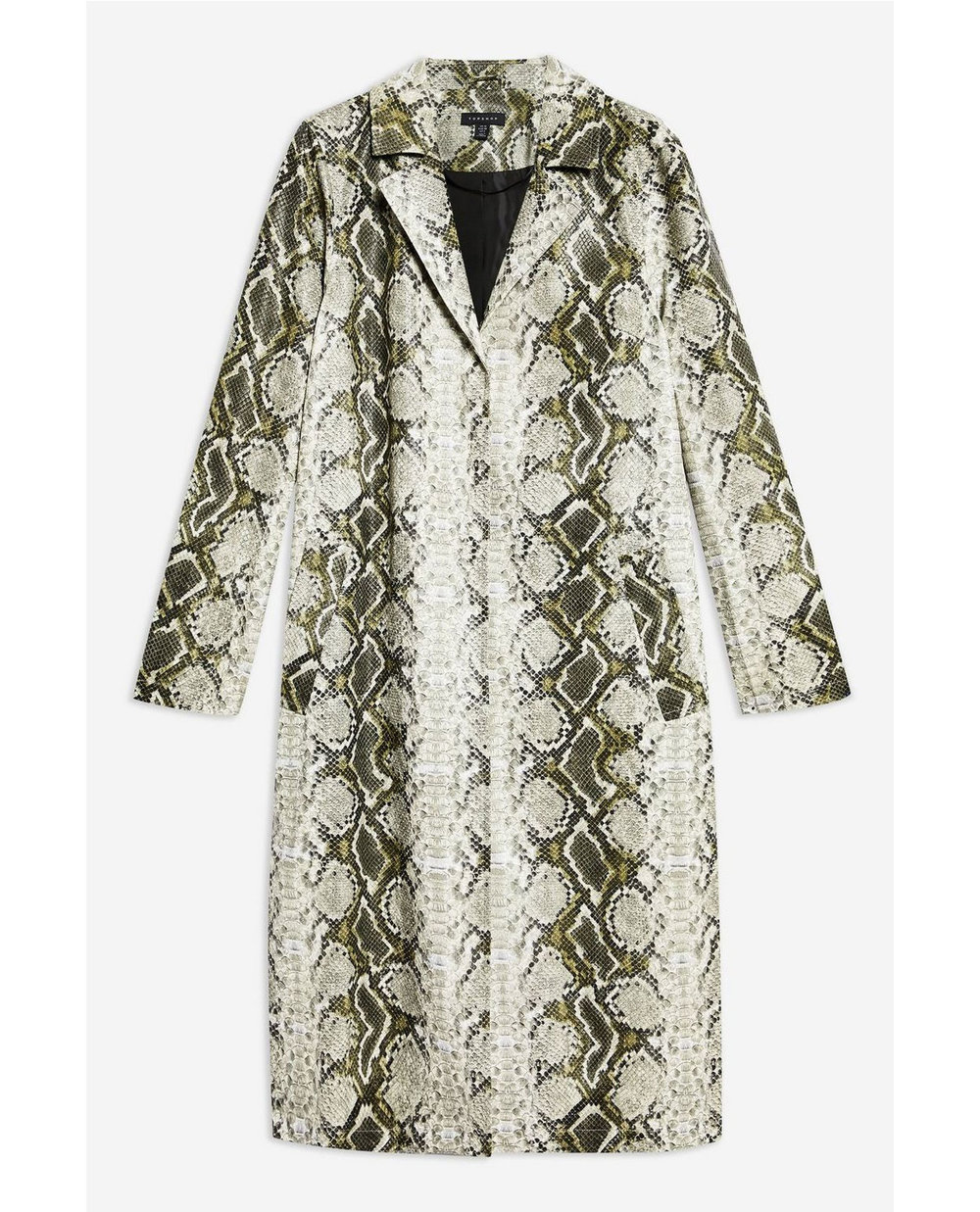 Top Shop Snake Print Coat     $160