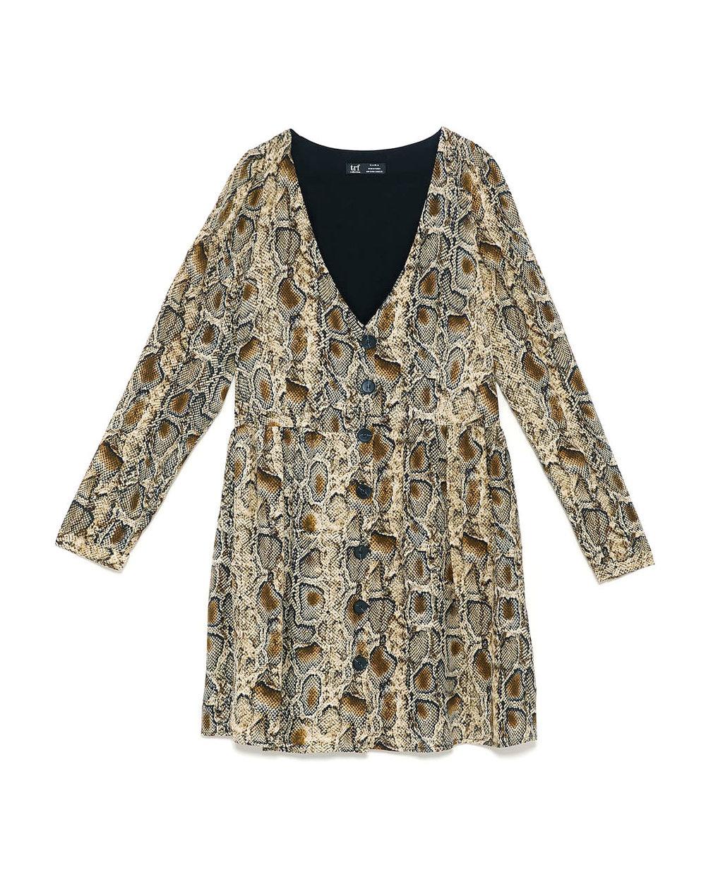Zara Snakeskin Print Dress     $15.99
