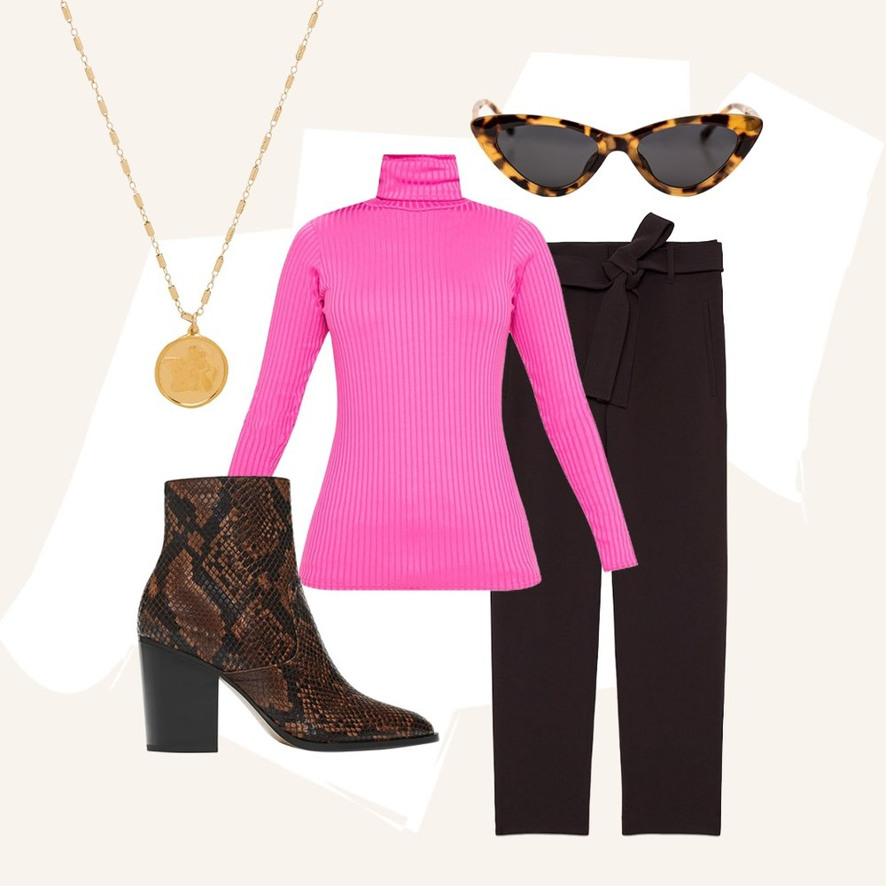 Shine Bright Boldly Wearing Neon - A touch of pink is all you need to flirt with the most effortless trend of the season.