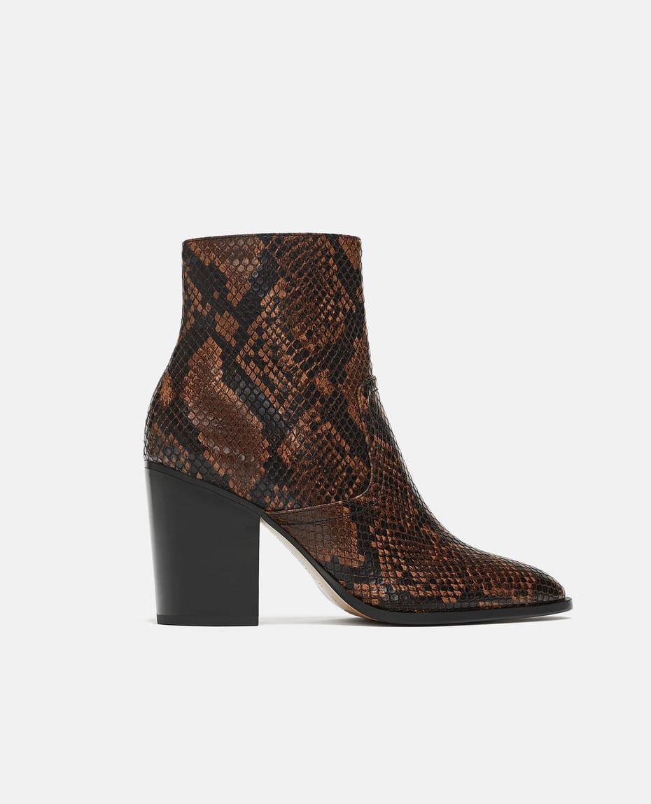 Zara Snakeskin Boots     $89.90