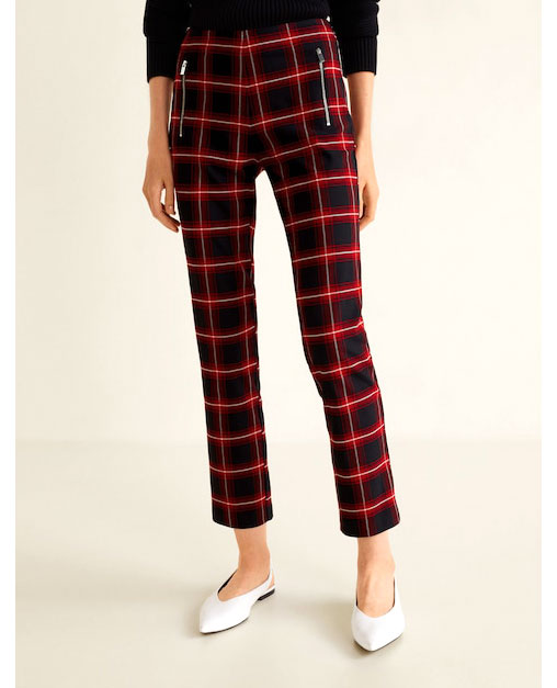 Mango Plaid Pants     $60