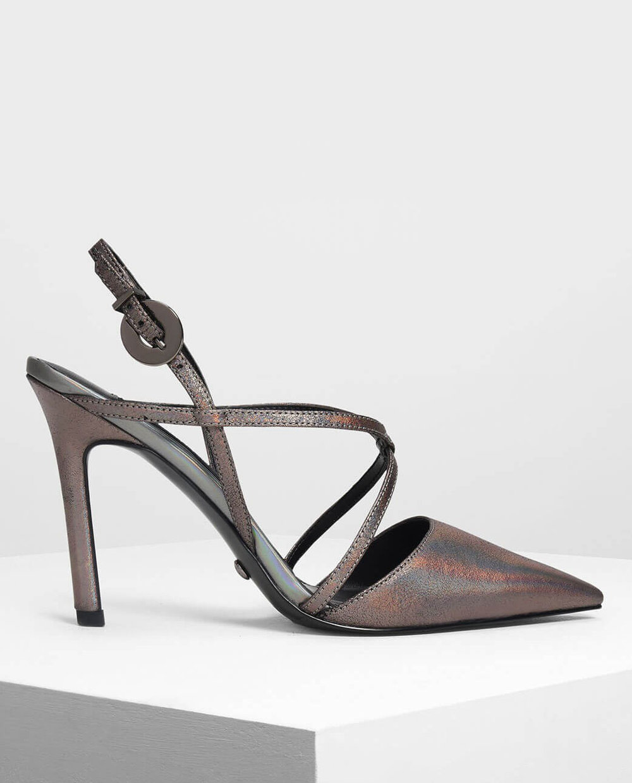 Charles Keith Metallic Shoe     $49