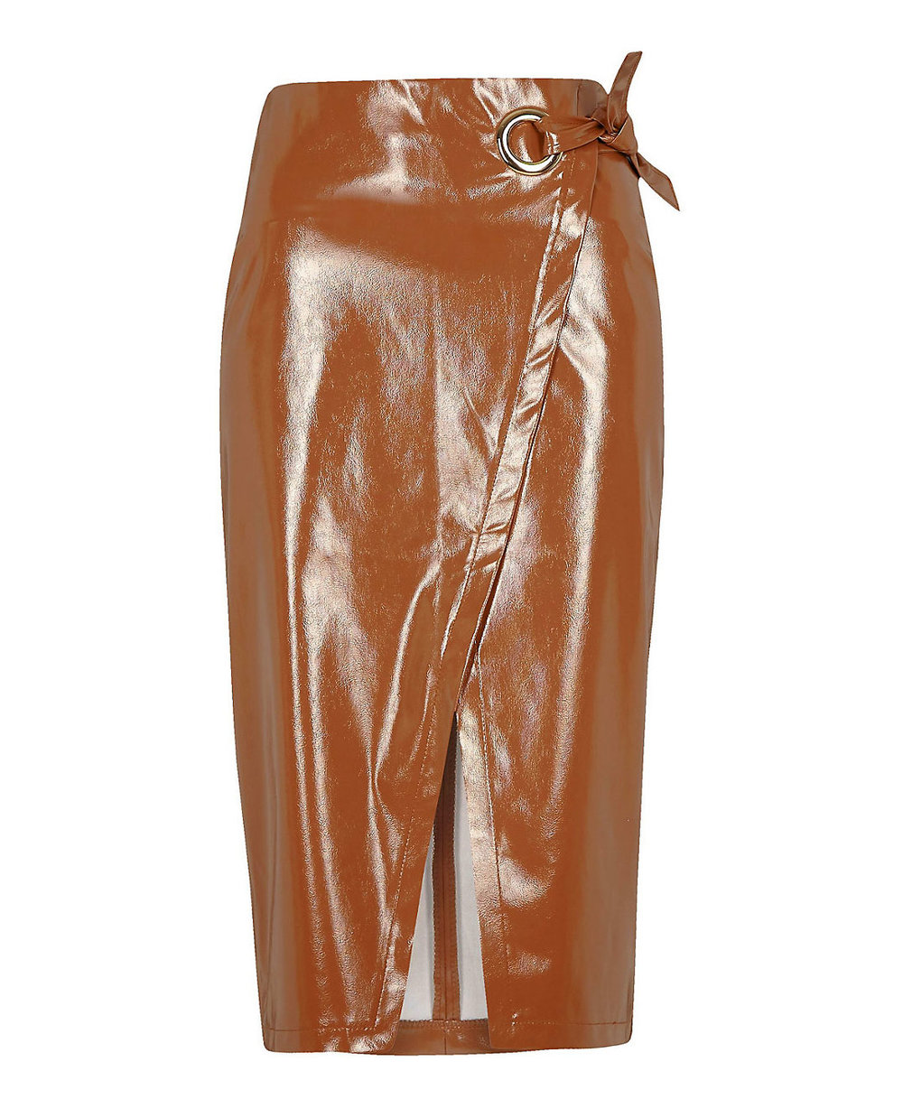 River Island Patent Leather Skirt     $67
