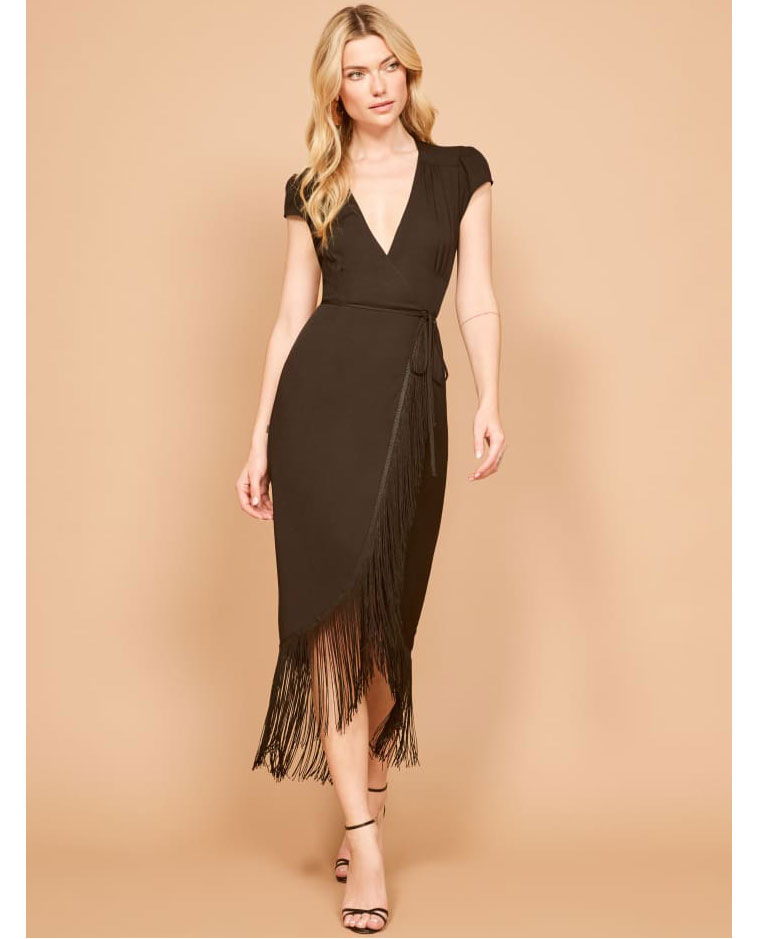 The Reformation fringe dress     $248