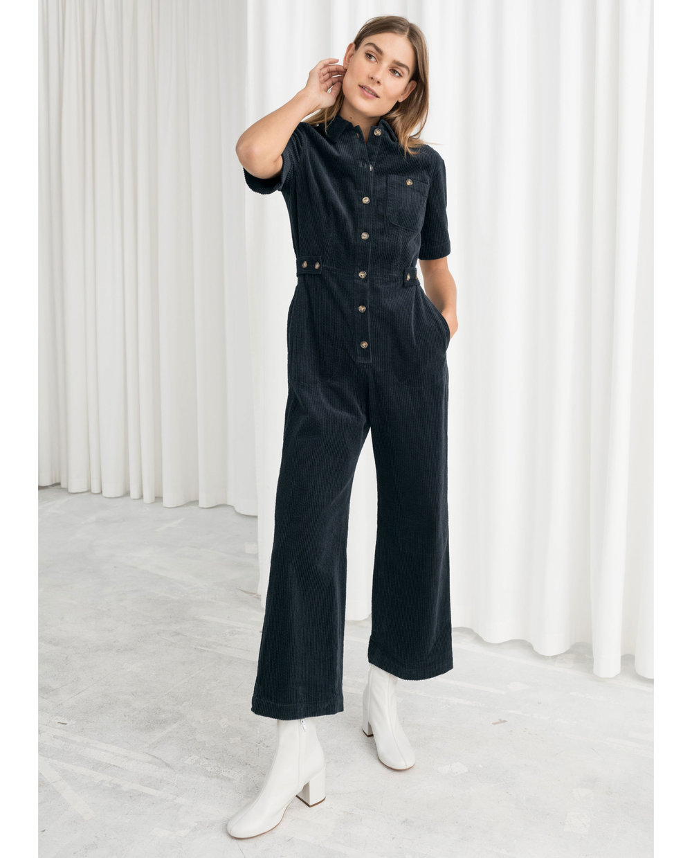 & Other Stories corduroy jumpsuit     $129
