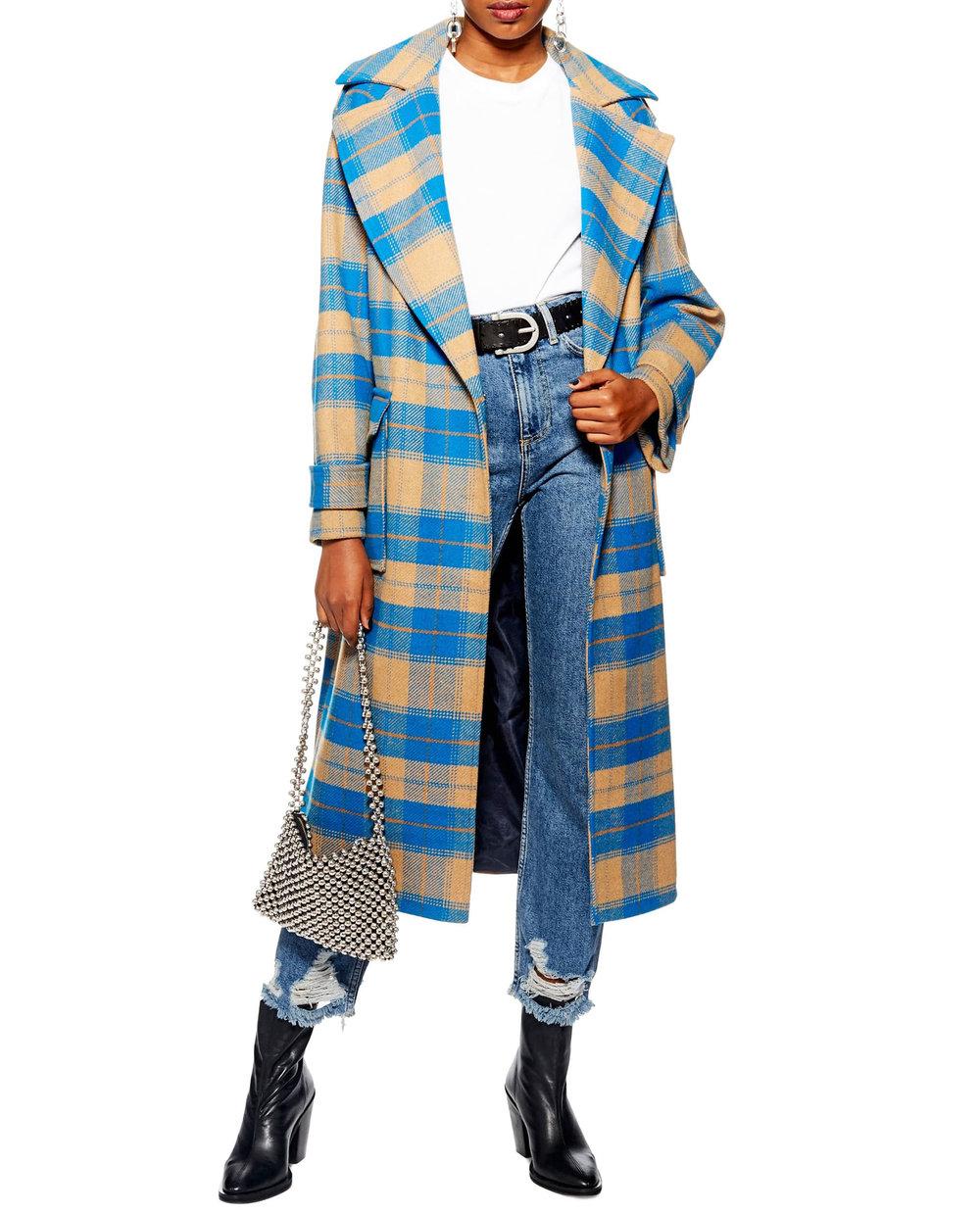 TopShop Plaid Coat       $170
