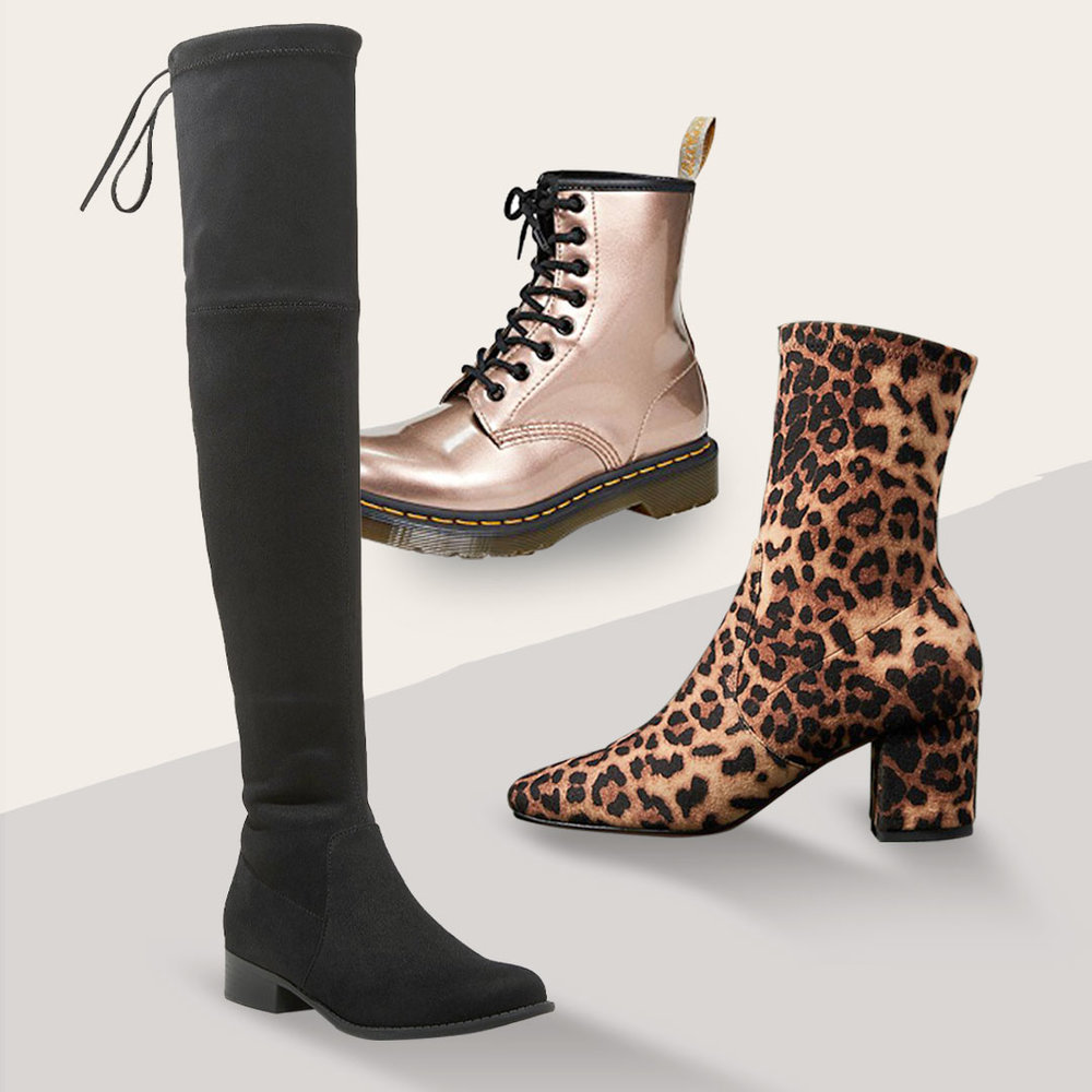 Winter Boots: No Slouch  and Straight Up - Slouchy boots aren't the only winter boot trends to shop this season. Tall, sleek over-the-knee boots are always a classic. Choose combat boots for everyday casual (and battling that winter weather) and sock boots are still going strong.