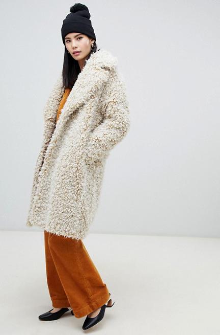 Monki Popcorn Coat    $174