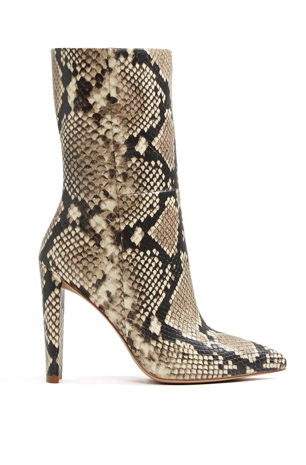 Aldo Snakeskin Boots       $150