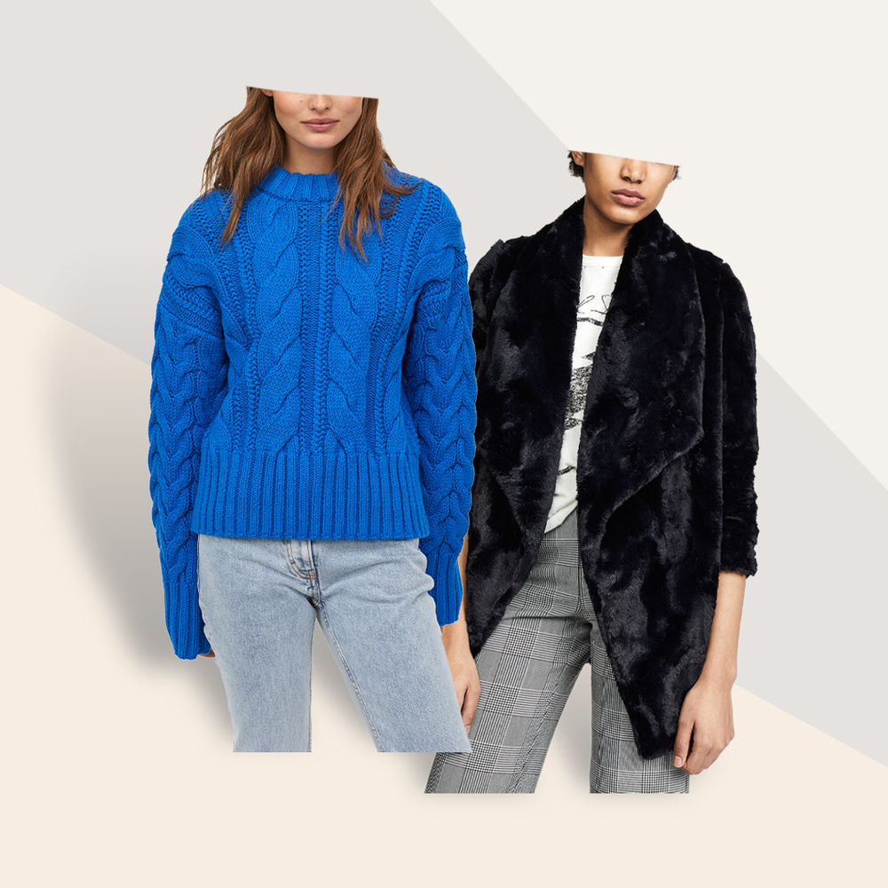The Coziest Sweater Textures for Winter 2019 - Desire different details? Choose a cozy fur or embroidered look. Or keep it classic in a cable knit or ribbed turtleneck.
