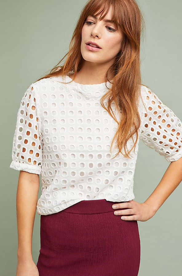 Volven Eyelet Top     $120