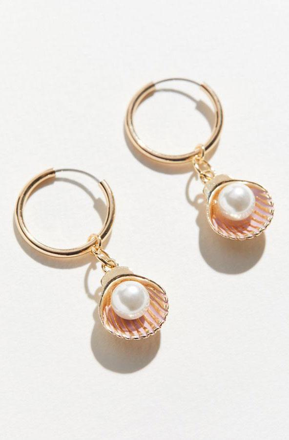 Urban Outfitter Pearl Shell Earrings     $16