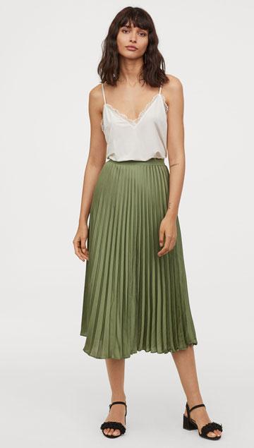 H&M Pleated Skirt     $49.99