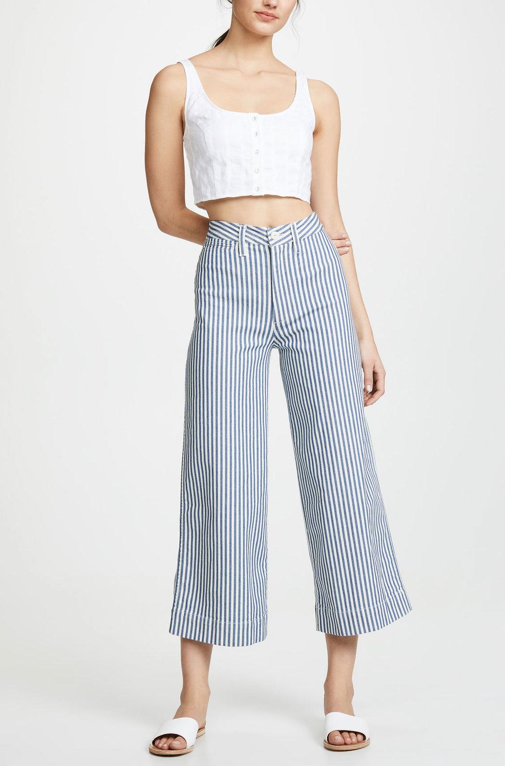 Madewell Strip Pants     $95