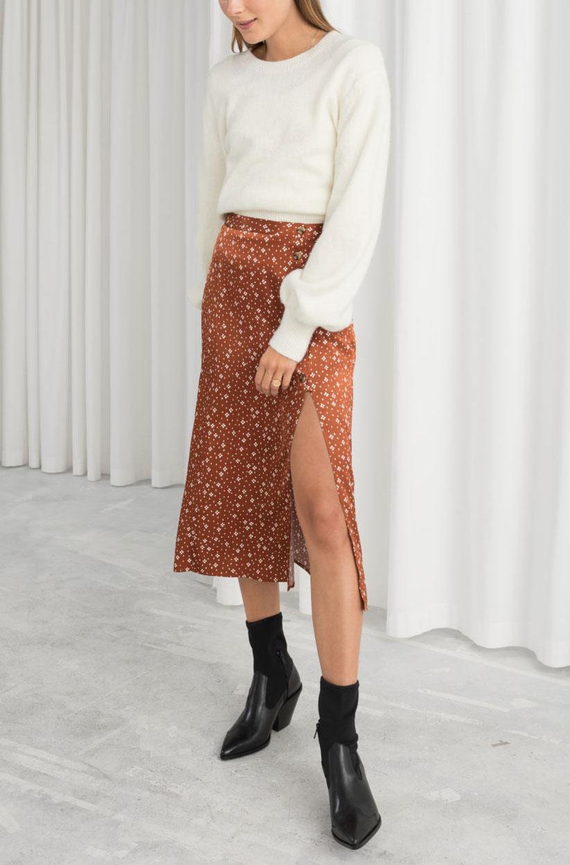 & Other Stories Polka Dot Skirt  $69