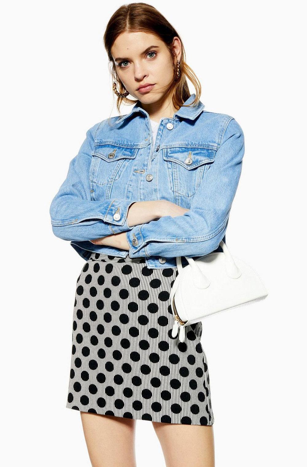 Top Shop Polka Dot Skirt  $60