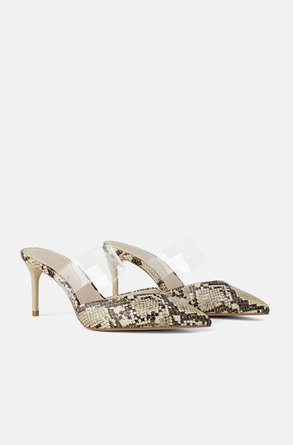 Zara Snakeskin Shoes       $39.90
