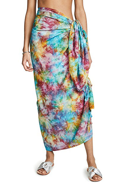 Pareo Tie-dye Wrap Skirt    $90