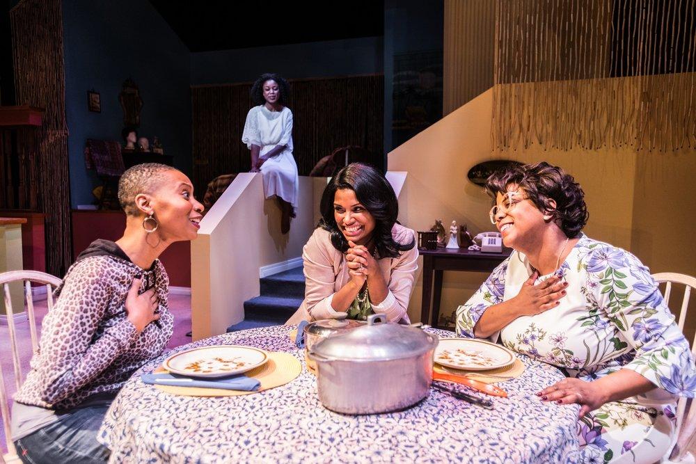 Malube, Bénédicte Bélizaire, Samantha Walkes, and Lucinda Davis.  Photo by Andrew Alexander