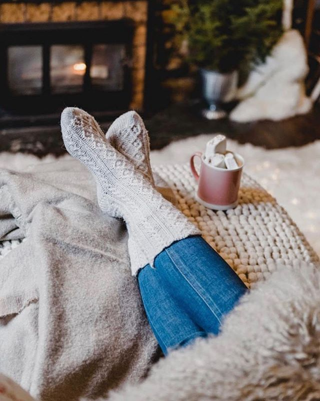 Cozying up tonight in the Lodge Cozy Socks. 🧦💕 Shop now at @_indigoboutique! #comfy #cozy #socks #hotchocolate #winter #goodnight