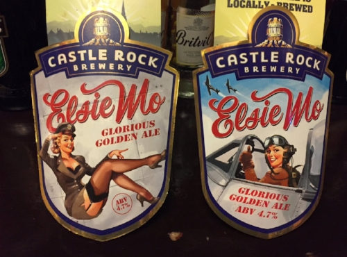 Elsie Mo - Pure Bad-ass. - You can see her go from pin-up to bad-ass in the latest iterations of the artwork, and we are loving the change! The new label (right) is also more historically indicative of the actual role of the women Elsie is meant to portray, so it's even better!