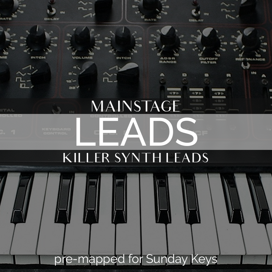 MainStage: Leads- Killer Synth Leads — MainStage Patches and Templates from  Sunday Sounds